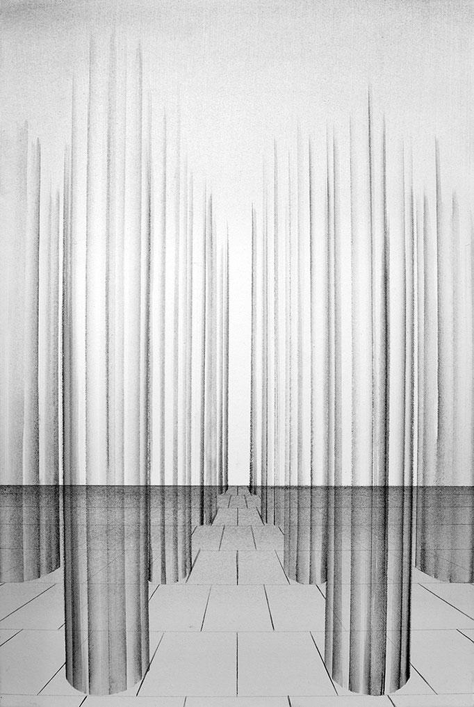 ,,Säulenhalle'' 2015 / 95x60 cm Acryl