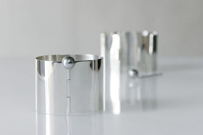 pearl keycuff sv925 x gray southseas pearl  ¥53,750