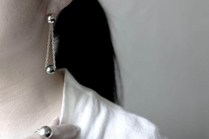 sphere pierce & charm sv925 x southseas pearl