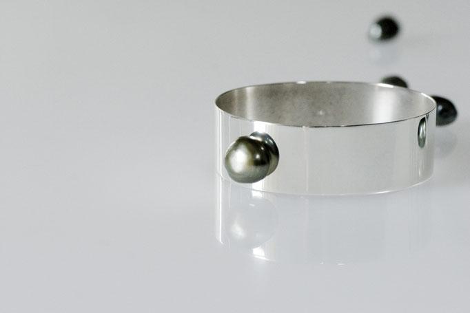 pearl buttoncuff - No:OPB-6 素材 SV925 x 南洋真珠