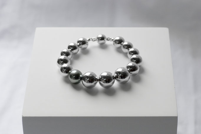 sphere bracelet  - No:OPB-16 素材 SV925 x 南洋真珠 17cm ¥120.000