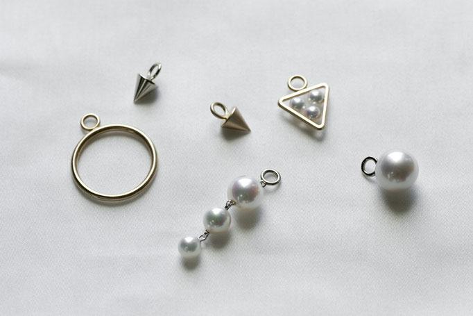 a charm  k10 x southseas,akoya pearl  ¥22,750~¥28,350