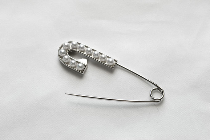 pearl pin - No:OPB-9 素材 SV925 x アコヤ真珠  ¥46.250 (数量限定)