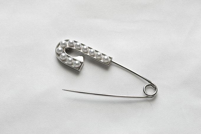 pearl pin - No:OPB-9 素材 SV925 x アコヤ真珠  ¥52.470 (数量限定)