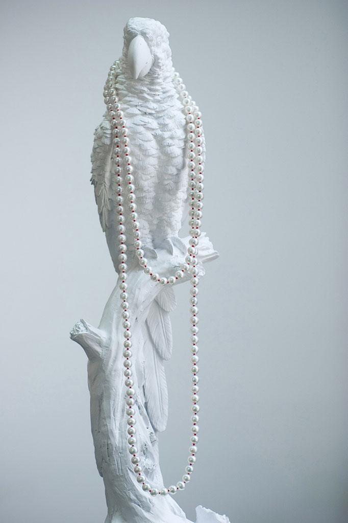 red knots necklace -No:OPP-6 素材 SV925 x 淡水真珠 120cm  ¥53.625