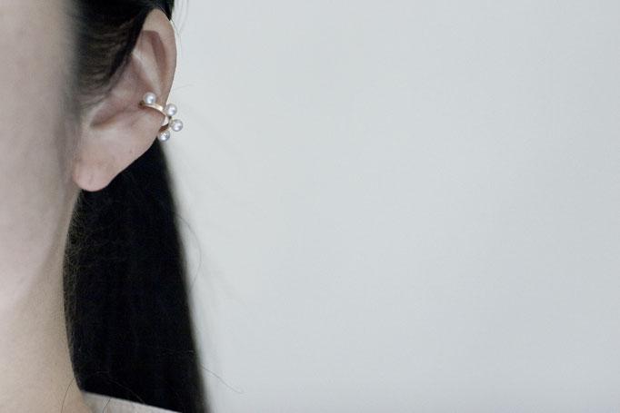 pearl earparts  k10yg x akoya pearl