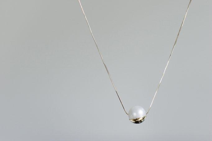 cuped necklace - No:OPP-5 素材 K10 x 南洋真珠 45cm ¥68.200