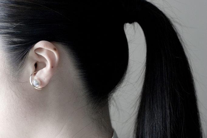 pearl earparts  k10yg x southseas pearl