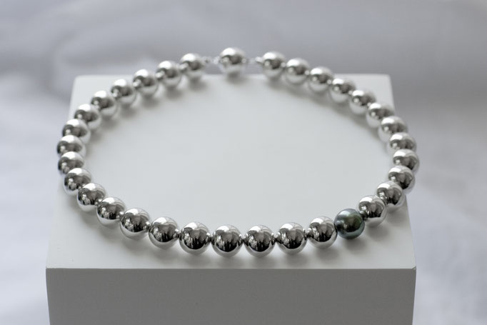 sphere necklace - No:OPP-8 素材 SV925 x 南洋真珠 36cm ¥275.000