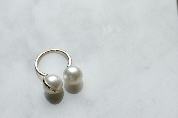 planet ring - No:OPR-3 素材 K10 x 南洋真珠  ¥56.600