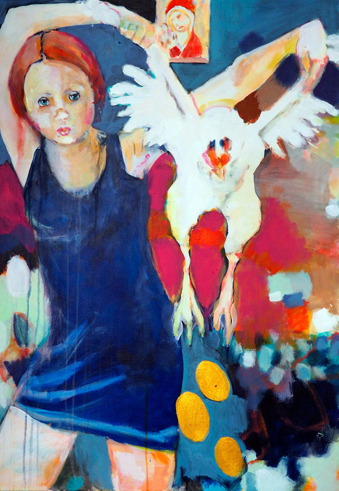 Stephanie Nückel     Good bird   Acryl auf Leinwand  118 x 81 cm   2015