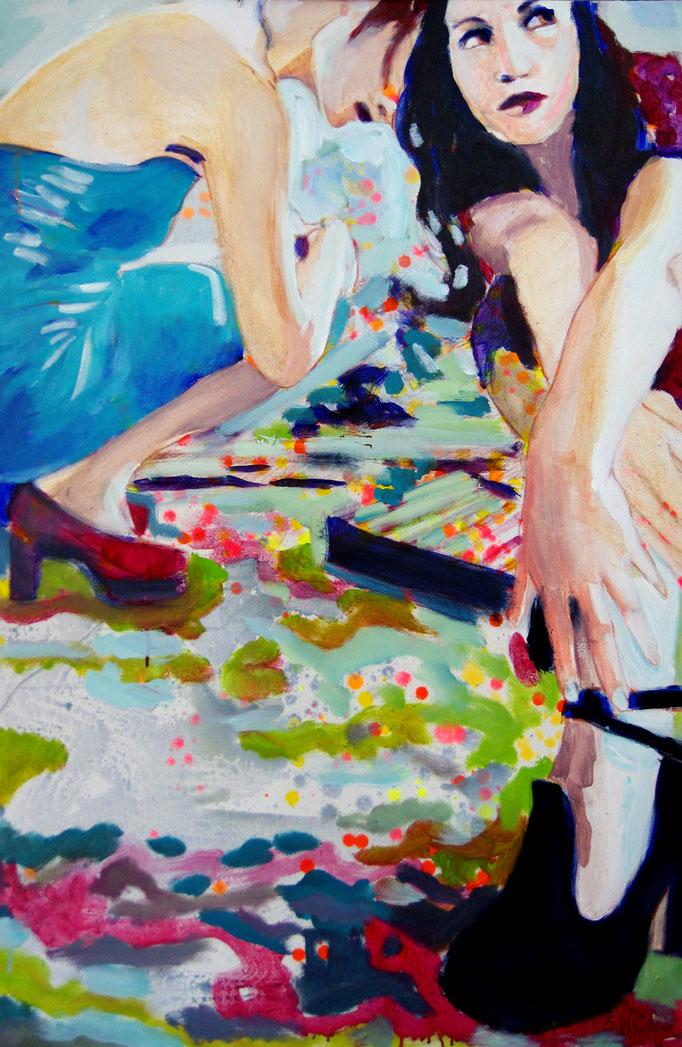 Stephanie Nückel   Poppy Gilrs  150 x 100 cm  Acryl auf Leinwand  2011
