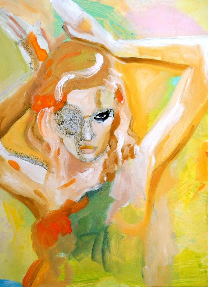 Buh!  Acryl on canvas   60 x 80 cm   2018