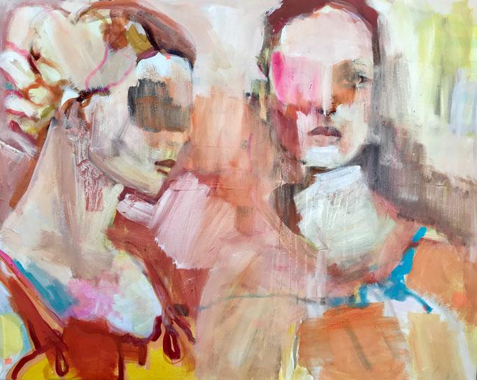 Stephanie Nückel   Sistahood   100 x 80 cm    Acryl auf Leinwand    2019