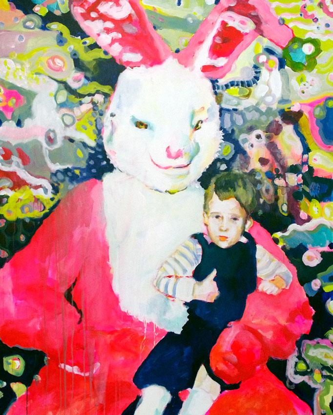 Stephanie Nückel   Lucky one   Acryl/Kohle auf Malgrund    150 x 120 cm     2015