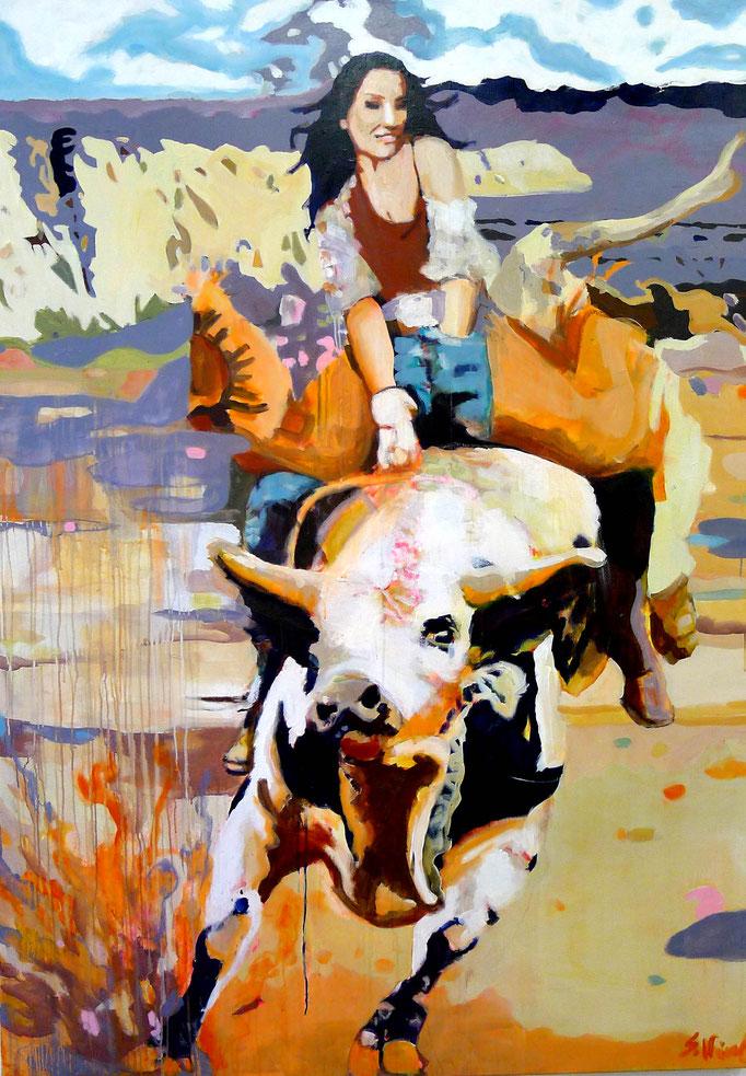 Stephanie Nückel     8 Seconds   200 x 140 cm   Acryl auf Leinwand    2016