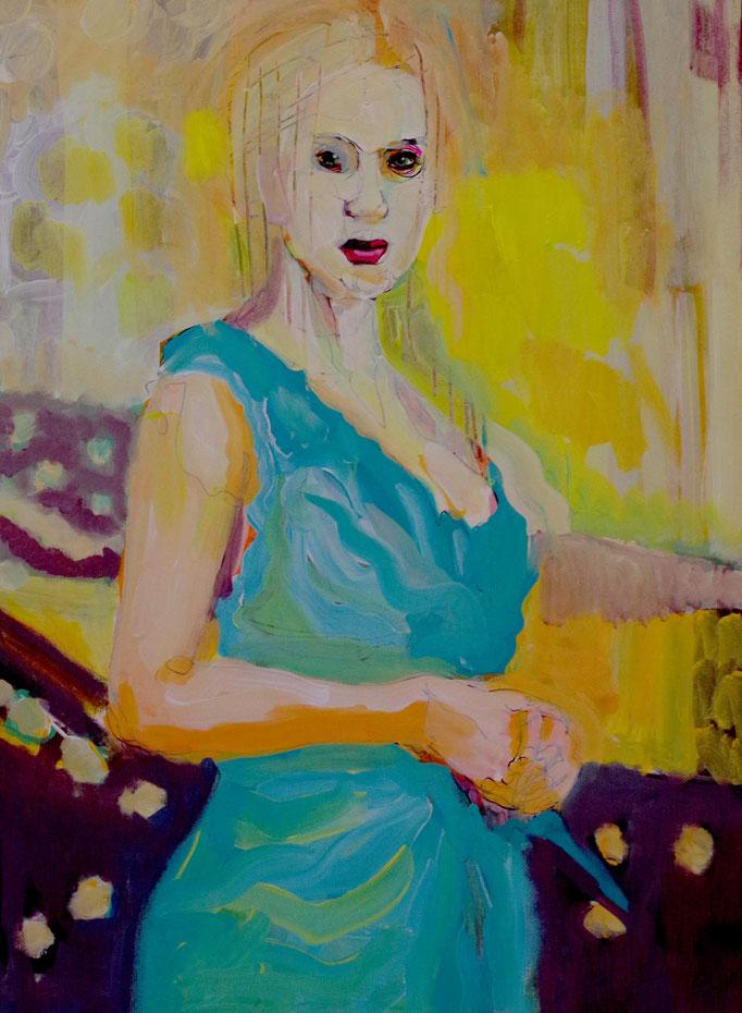 Stephanie Nückel    GHOST  Acryl /Leinwand   60 x 40 cm    2017
