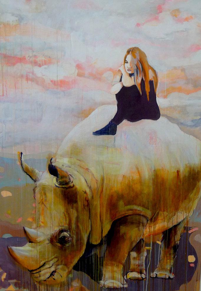 Stephanie Nückel     Nexus    200 x 140 cm     Acryl auf Leinwand     2016
