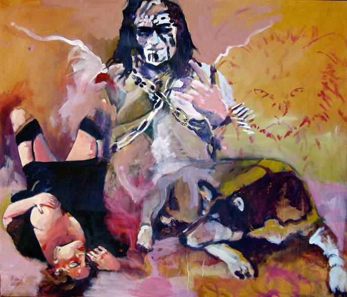Stephanie Nückel     Devilangel   150 x 120 cm   Acryl auf Malgrund   2013