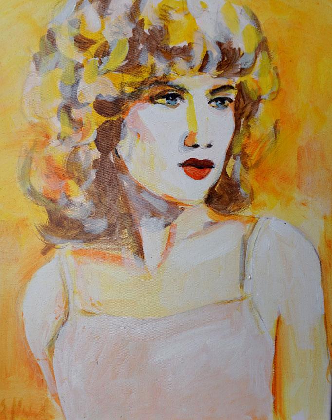 Stephanie Nückel    Frankie   Acryl /Leinwand   50  x 40 cm    2017