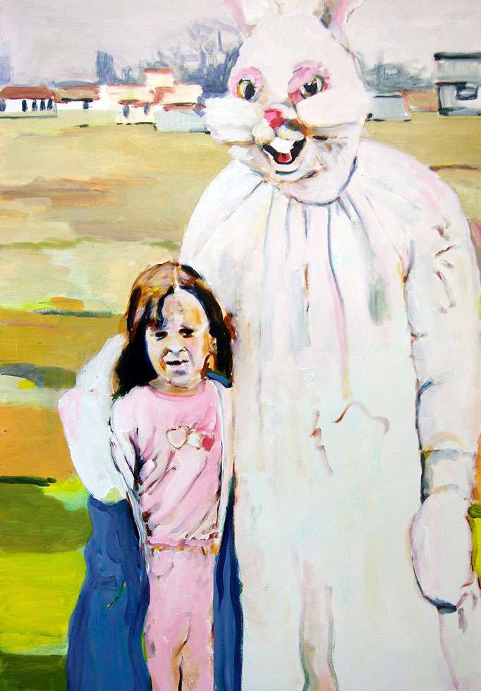 Come closer, baby  Acryl/Kohle auf Malgrund  118 x 81 cm  2015