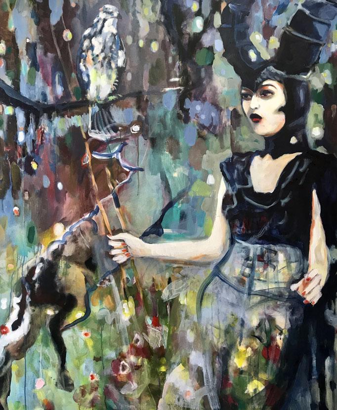 Stephanie Nückel    Let the magic charm your life     160 x 120 cm    Acryl auf Leinwand     2009/2019