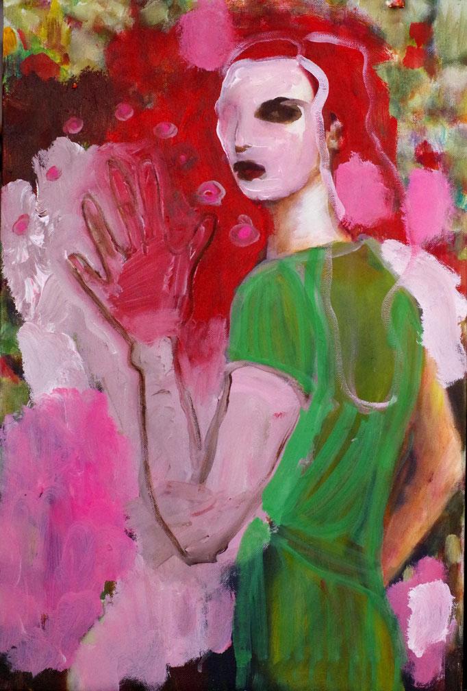 Stephanie Nückel     In the woods    Acryl /Leinwand   60 x 40 cm    2017