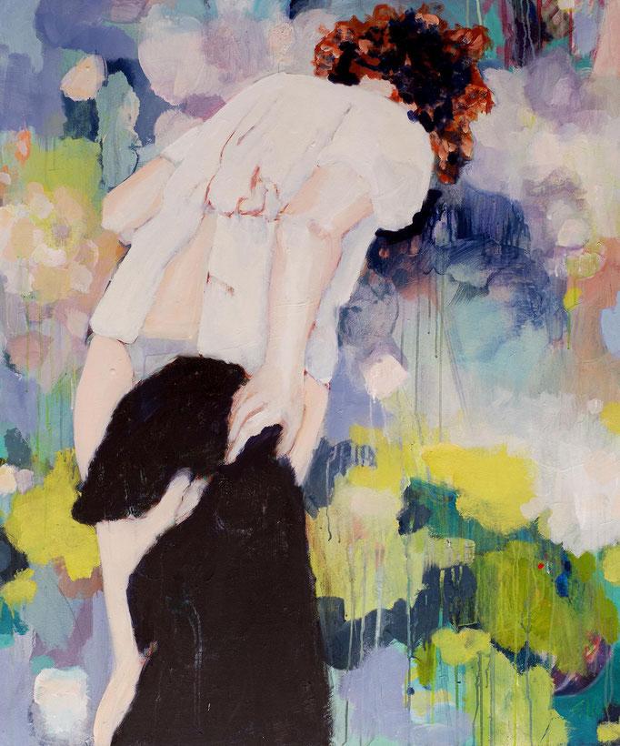 Stephanie Nückel     Into something  120 x 100 cm    2015     Acryl auf Leinwand (sold)