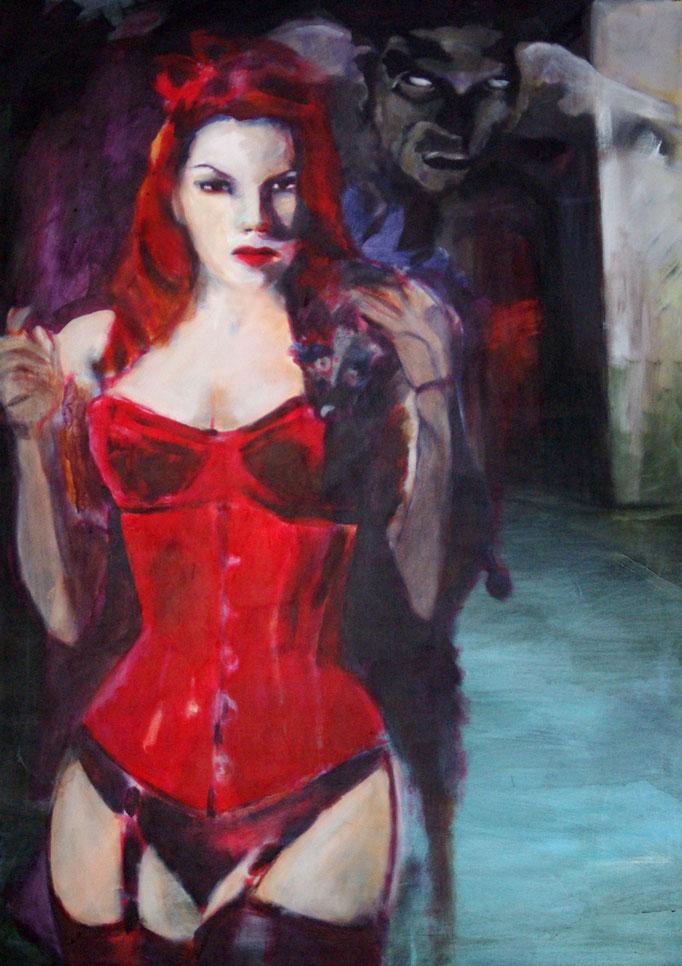 Stephanie Nückel     Devil on my mind  100 x 80 cm   Acryl auf Malgrund  2011
