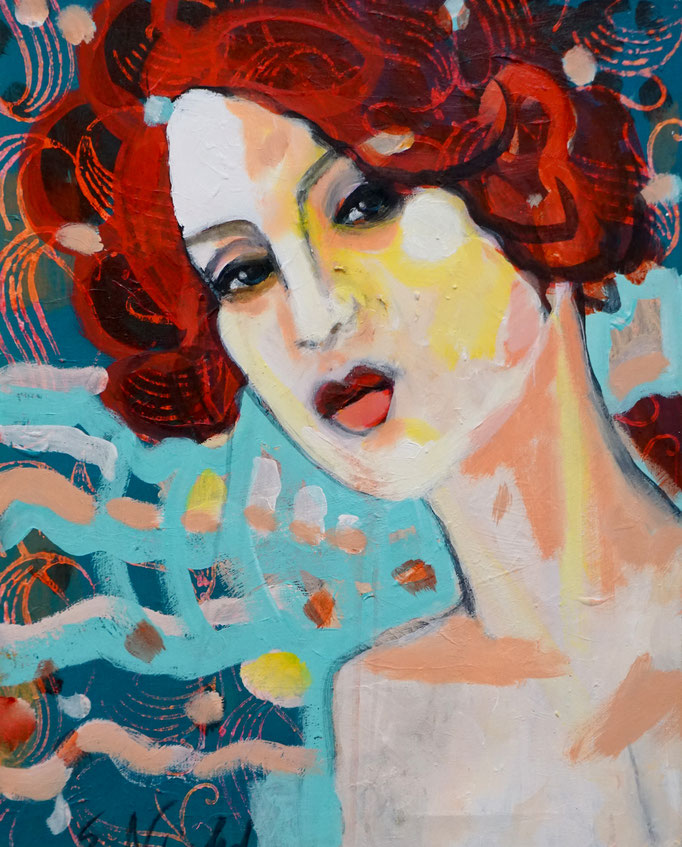 Stephanie Nückel     Chacha   Acryl /Leinwand   60 x 40 cm    2019 (NOT AVAILABLE)