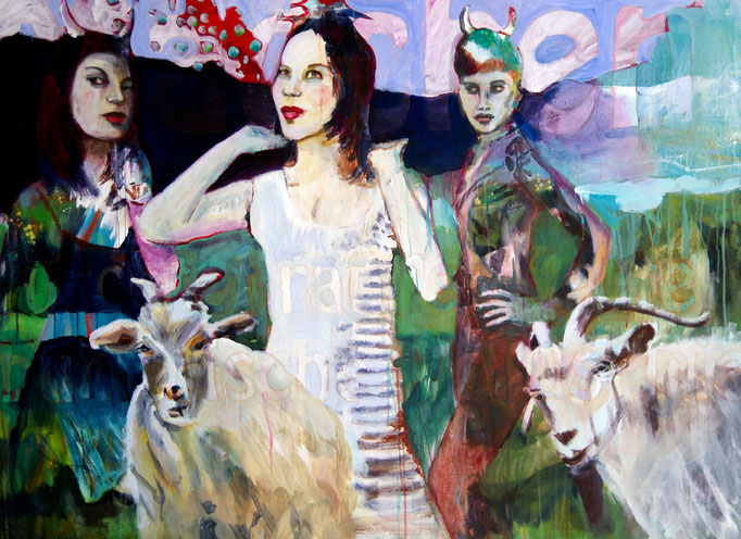 Stephanie Nückel     Wollust  Acryl auf Malgrund   120 x 150 cm   2011