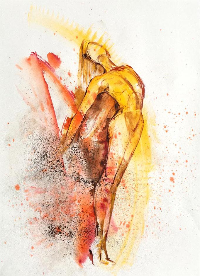 Farbskizze 03 - Heidemarie Franz
