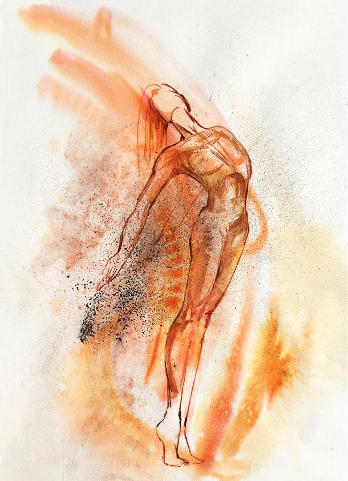 Farbskizze 06 - Heidemarie Franz