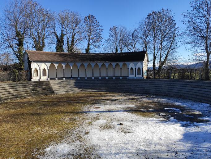 Das erste, 1822 künstlich angelegte Freibad der Schweiz.