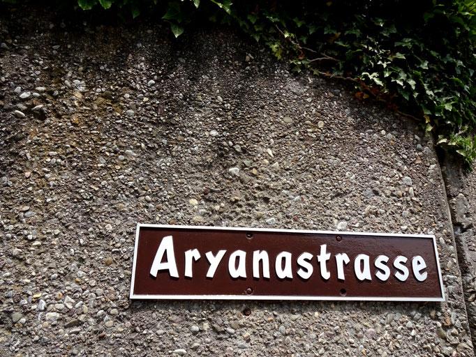 Die Aryanastrasse verweist auf die ehemalige Siedlung
