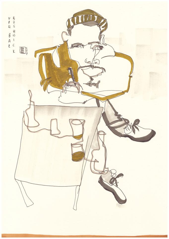 Portrait Karikatur von Eric Alexanders
