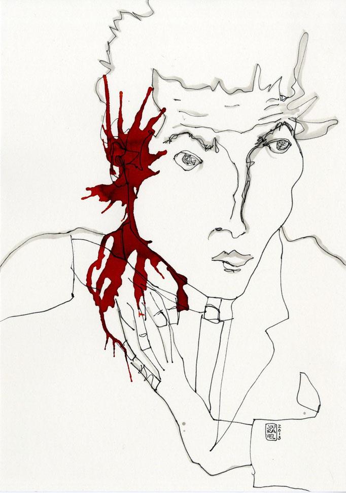 Portrait Egon Schiele 2014