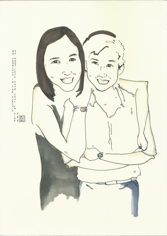 Custom Couple Portrait 2015