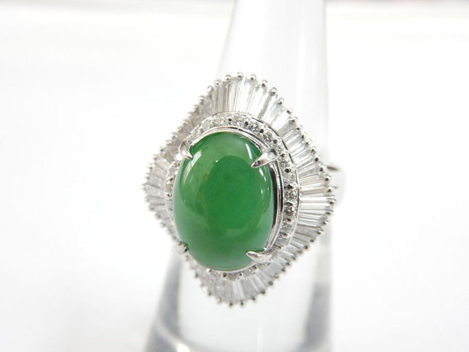 買取 翡翠(ひすい) プラチナ リング/指輪