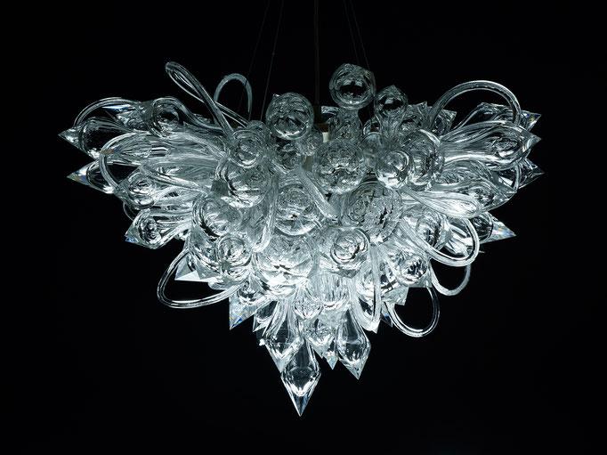 ICEFLOWER    Ø 85 x H 60 cm, cut + polished