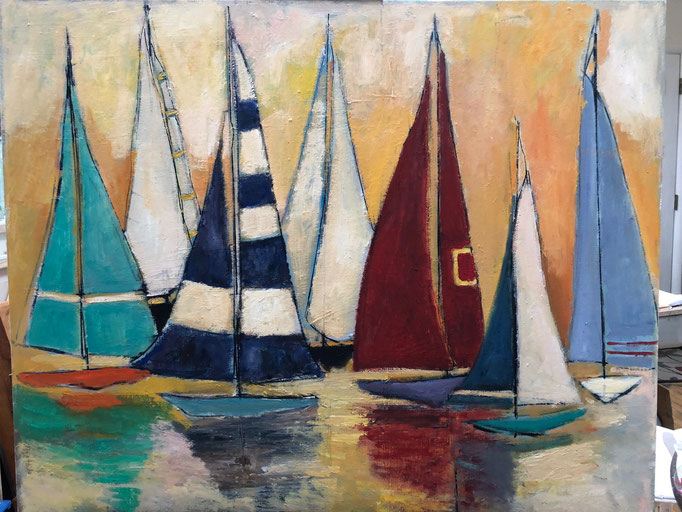 Sailboats / 24x30