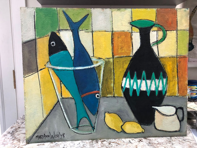 Two Fish in a Bowl / 16x20