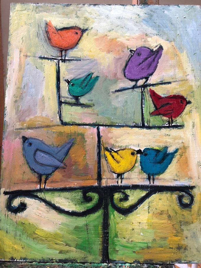 Bird Stand / 14x11