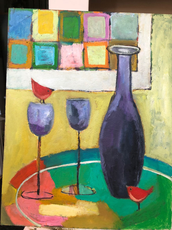 Grape Bottle / 20x16