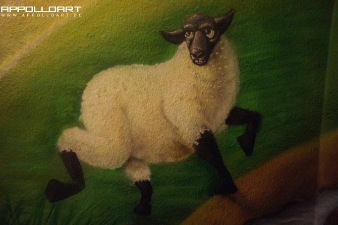 Berlin Rio Tokio wir gestalten für Sie Ihren Wohnbereichmit Wandmalerei Schaff Schaf