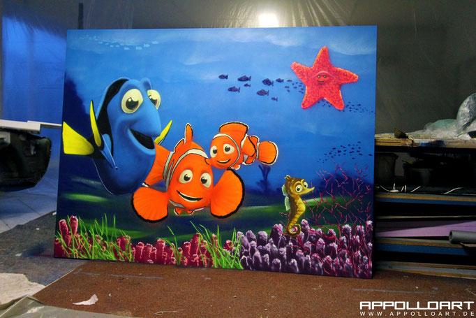3d Malerei im Haus. Bild erstellen Wand