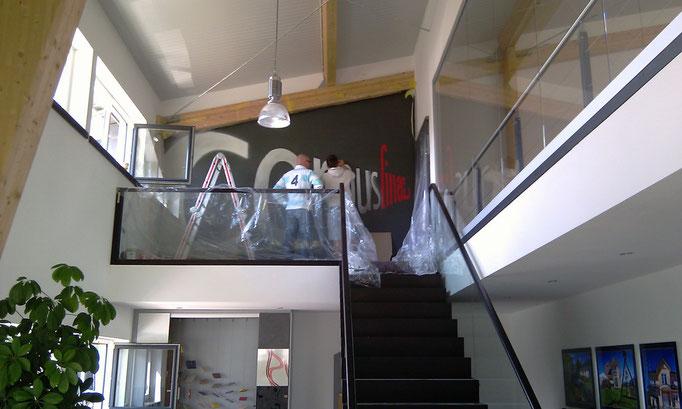 3d malerei in Geschäftsräumen Büro und Werkstatt Logogestaltung in innen Geschäftsräume