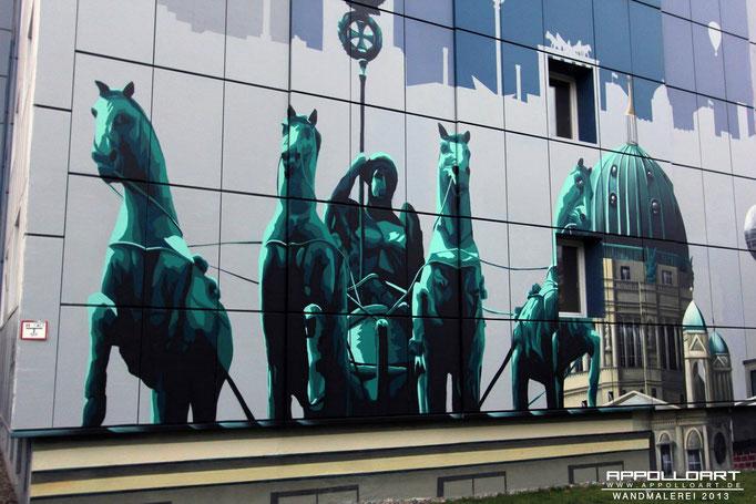 Wandbild Wandbilder in Deutschland- Graffiti Bild an der Fassadenwand