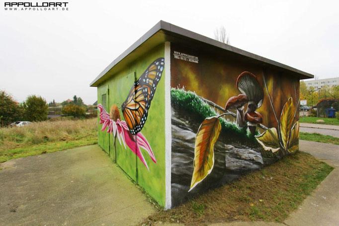 Neben öffentlichen Auftraggebern nehmen übrigens zunehmend Privatpersonen die Leistungen der Graffitikunst in Anspruch - für Büros, Praxen, Läden, aber auch Wohnungen.