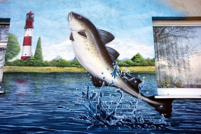 Bernau Prötzel Fassadengestaltung- Bemalung Fischerei Gaststätte